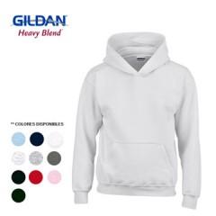 GILDAN BUSO CAPOTA JUVENIL BLANCO | 18500BB