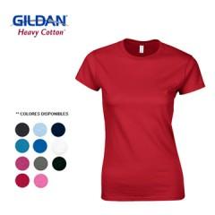 GILDAN CAMISETA T-SHIRT DAMA COLOR | 64000L