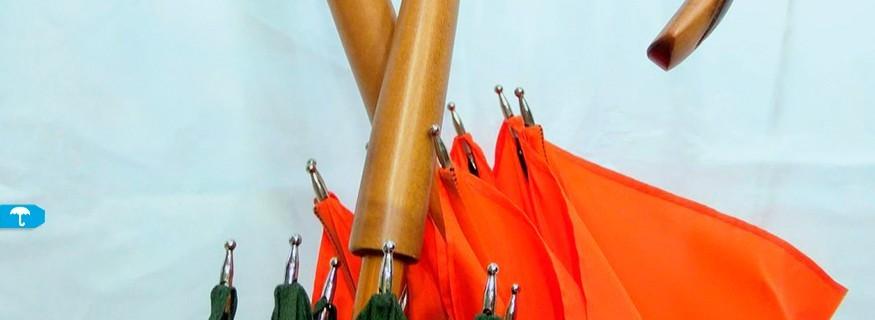 Paraguas y Sombrillas Mango de Madera